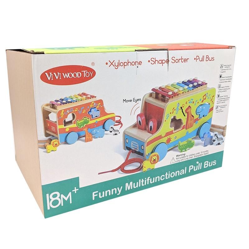 Jeux Educatif En Bois Funny Multi Function Pull Bus Puzzle Animaux Xylophone Pour Enfant 3 Ans Jeux Educatifs Cadeaux Et Loisirs Tous All What Office Needs