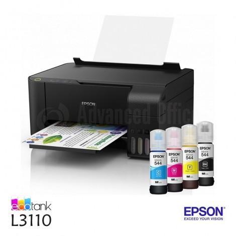 Imprimante Multifonction Jet d'encre EPSON EcoTank L3110, Couleur, A4, 33ppm/15ppm, USB