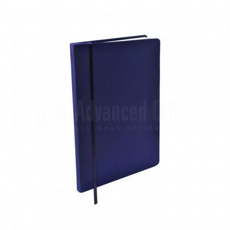 Agenda A5 à fermeture élastique Boucle pour stylo Bleu foncé