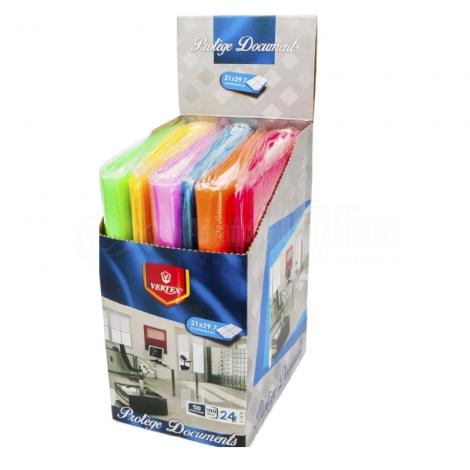 Porte vue VERTEX 20 pochettes, 40 vues Multi couleurs