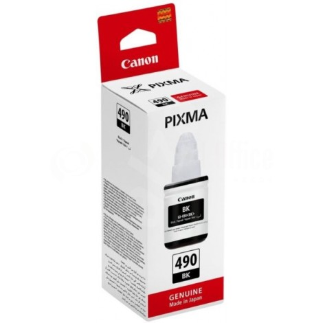 Bouteille d'encre CANON GI-490 Noir pour G1400/G2400/G3400