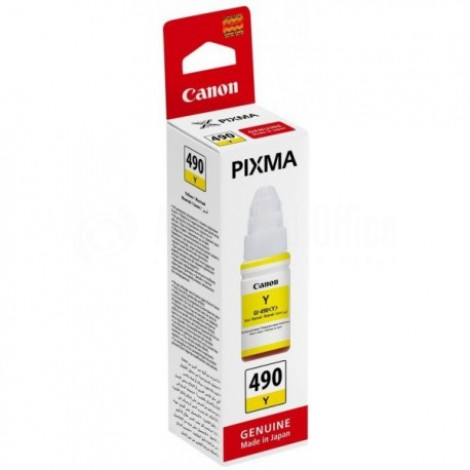 Bouteille d'encre CANON GI-490 Yellow pour G1400/G2400/G3400