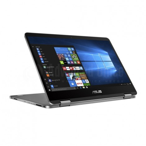 "Laptop ASUS VivoBook Flip 14 TP401, Intel Celeron N3350, 4Go, 64Go eMMC, 14"" tactile, Windows 10, Gris"