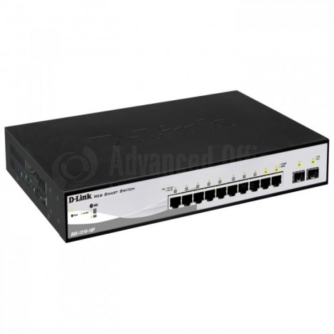 Switch D-LINK 8 ports 10/100/1000 PoE with 4 combo sfp smart