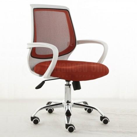 Chaise opérateur filet siège en tissu Rouge piétement métallique
