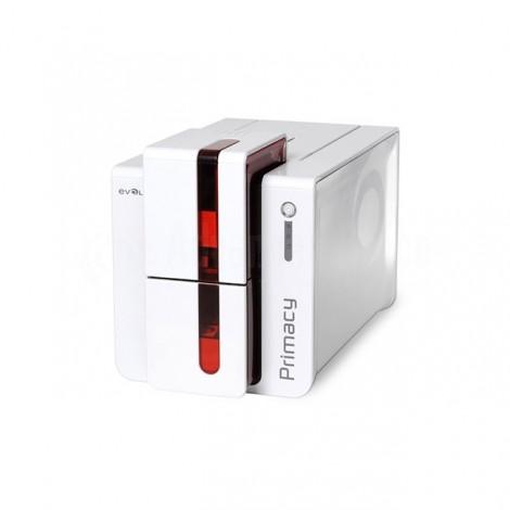 Imprimante à Badges EVOLIS Primacy Simplex, Simple Face, Bord à Bord, Simple Face: Couleur 190 - 225 cartes/h, Monochrome : 800 - 1000 cartes/h, USB, Ethernet, WiFi