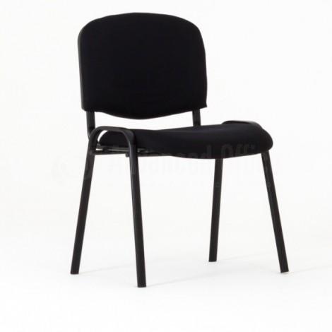 Chaise visiteur en tissu structure IMPERIAL Noire