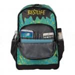 "Sac à dos porte PC BESTLIFE Fashion BSB-3294GE 15.6"" Vert Motif fleurs  -  Advanced Office"