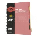 Note book Spiral HAIZHIJIE 16K-H304 B5 190 x 260mm 4 intercalaires - Advanced Office