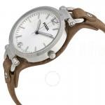 Montre pour femme FOSSIL ES3060 Bracelet en cuir véritable Marron foncé  -  ADVANCED OFFICE