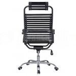 Chaise directionnelle filet siège en tissu noir avec repose tête piètement métallique - Advanced Office