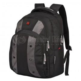 "Sac à dos porte PC SWISSGEAR-WENGER Upload Essential 16"" Noir/Gris - Advanced Office"