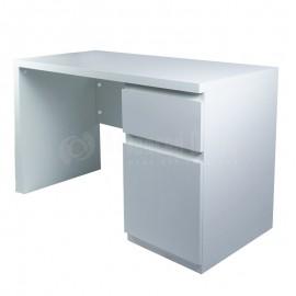 Bureau BAVARIA 1.20 x 0.55 x 0.73m avec tiroir et compartiment bas, Blanc