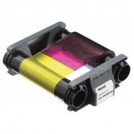 Ruban couleur YMCKO 100 faces pour EVOLIS Badgy 200  -  Advanced Office