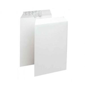 Boite 250 enveloppes pochette A4 blanche auto adhésive 229 x 324