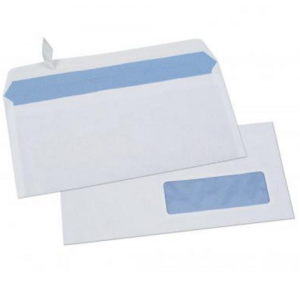 Boite de 250 enveloppes A4 auto adhésives Blanche 229 x 324 mm avec fenêtre pvc