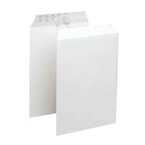 Boite de 250 enveloppes pochette F26 blanche auto adhésive