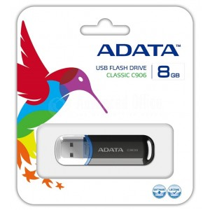 Flash disque ADATA C906 8Go USB 2.0 Noir  -  Advanced Office Algérie