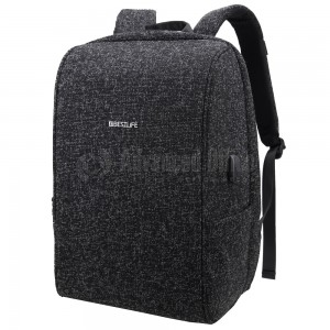 "image. Sac à dos porte PC BESTLIFE Travel Safe BB-3456 15.6"" Anti-vol, avec Port USB Externe Noir  -  Advanced Office Algérie"