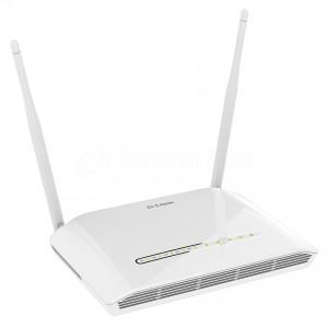 Modem Routeur ADSL2/2+ 11n sans fil D-LINK 300Mbps, avec 4 port 10/100Mbps, antennes détachables, port USB  -  Advanced Office Algérie
