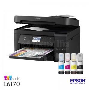 EPSON EcoTank L6170 Multifonction ITS Jet d'encre, Couleur, A4, 33ppm/20ppm, Recto-verso, USB, Réseau, Wifi