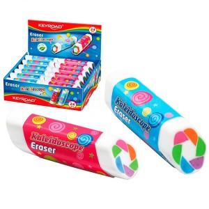 Gomme scolaire KEYROAD Kaleidoscope Multi couleurs