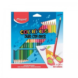 Boite de 24 Crayons couleurs MAPED Color'peps Duo  -  Advanced Office