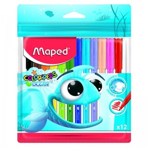 Boite de 12 feutres MAPED Color's Peps Ocean  -  Advanced Office