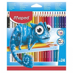 Boite de 24 crayons couleur MAPED Triangulaires en plastique  -  Advanced Office