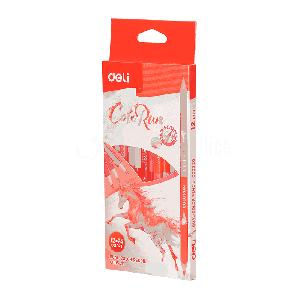 Boite de 12 Crayons couleur DELI ColoRun C005 Duo (12 crayons 24 couleurs)