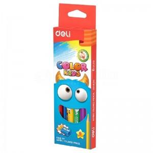 Boite de 6 crayons de couleur DELI Color Kids Jumbo C006 60 Triangulaire GM