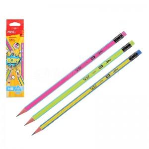 Crayon noir DELI Pop! U524 HB avec gomme