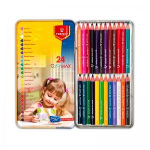Boite de 24 crayon couleur VERTEX Color MAX VS-0428 Métallique  -  Advanced Office