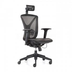 Chaise directionnelle filet noir avec repose tête, série Y