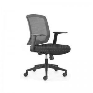 Chaise opérateur filet siège en tissus noir, série RT  -  Advanced office