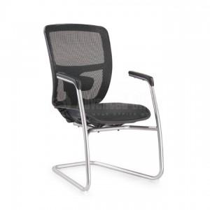 Chaise visiteur luge filet noir, série JXN