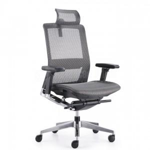 Chaise directionnelle filet noir avec repose tête piétement métallique, série PX