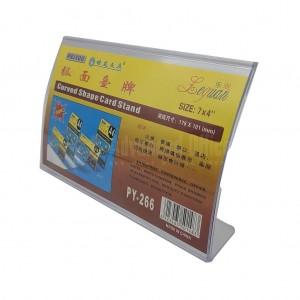 Présentoir de carte courbé PEIYOU Leguan Curved Shape Card Stand en plastique 178 x 101mm