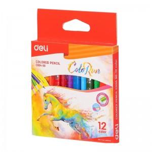 Boite de 12 crayons de couleurs DELI ColoRun C004 00 Triangulaire PM  -  Advanced Office