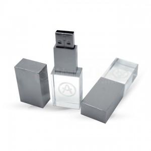 Port clé USB en Crystal 16Go en Boite Noir avec posibilité de gravure 3D