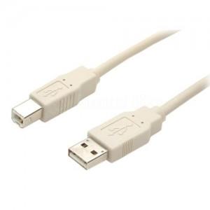 Câble pour Imprimante CAPSYS USB 2.0 AM/BM bleu sous Blister, 3m