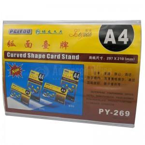 Présentoir carte A4 210 x 297mm horizontal