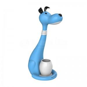 Lampe de bureau enfant Porte stylos PROMATE Goofy, Touch contrôle, LED 350Lum 60W, 5V/350mA, Bleu  -  Advanced Office