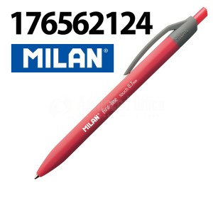 image.  Stylo à bill MILAN fine-line touch 0.7mm Rétractable Rouge   -   Advanced Office