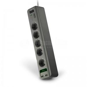 image. Multiprise APC Essential 5 sorties Noir avec 2 ports USB  -  Advanced Office