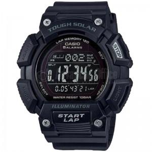 image. Montre Sport Homme CASIO S110H Tough Solar, Chronomètre 1/100 sec, Heure mondiale, Bracelet en résine, Noir  -  Advanced Office Algérie