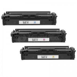 Pack 3 de toners CORALJET compatible 045 CYM pour CANON MF634CDW  -  Advanced Office Algérie