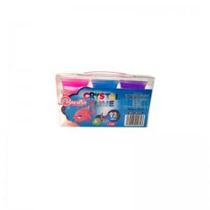 Boite 12 Pots de Pâte à Modeler MAESTRO CMSS-SC74 Crystal Slime