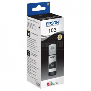 Bouteille d'encre EPSON 103 EcoTank Noir pour EcoTank L5190/ L3160/ L3156/ L3151/ L3150/ L3111/ L3110/ L1110, 65ml