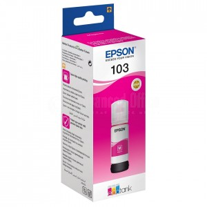 image. Bouteille d'encre EPSON 103 EcoTank Magenta pour EcoTank L5190/ L3160/ L3156/ L3151/ L3150/ L3111/ L3110/ L1110, 65ml  -  Advanced Office Algérie